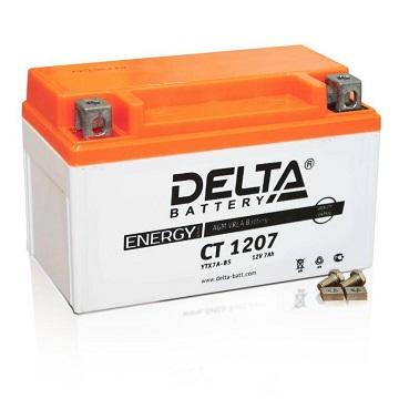 Аккумулятор DELTA AGM 7 А/ч СТ 1207 ABS