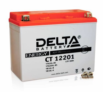 Аккумулятор DELTA AGM 18 А/ч CT 12201