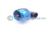 Фильтр воздушный нулевого сопротивления 35мм 90град. (синий)