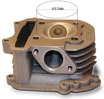 Головка цилиндра в сборе170-180сс D-61 (152QMI-157QMJ)