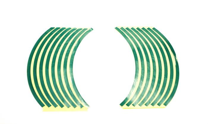 Наклейки светоотражающие на колесный диск R10