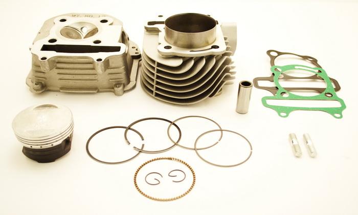 ЦПГ (комплект тюнинга) 170сс d-61 + головка в сборе с увелич. клап. 4T 152QMI, 157QMJ