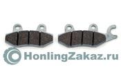 Колодки передние №1 Тип 1 с ухом (Honling QT-7, QT-6, QT-8)