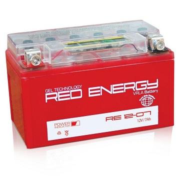 Аккумулятор Red Energy Gel 7А/ч 1207 (YTX7A-BS)