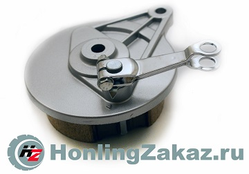 Суппорт заднего.барабанного торм. 4Т дв139FMB (мопед) DELTA, ALPHA в сборе с колодками и рычагом тормоза