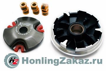 Вариатор тюнинг 2T Stels, Yamaha JOG-90 (3WF) +ролики 5,6,7гр+пружины сцепления спорт